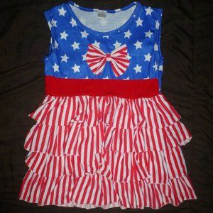 Other - Boutique Girls Patriotic 4th of July Ruffle Tunic
